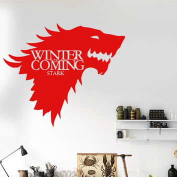 Game of Thrones Wolf Wall Decal