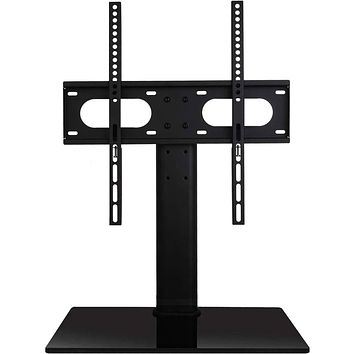 WALI Table Top TV Stand with Glass Base and Security Wire Fits Most 32 to 47 inch LED, LCD, OLED and Plasma Flat Screen TV with VESA up to 400 by 400mm (TVDVD-01), Black 32 - 47 inch