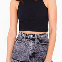 Gray High Waist Denim Shorts