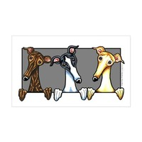GREYHOUND LOVER STICKER (RECTANGLE)