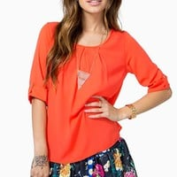 Everyday Pleat Front Blouse
