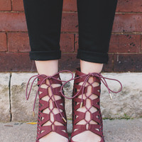 Headliner Heels - Burgundy