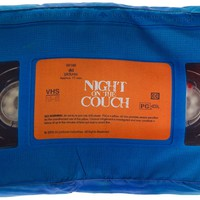 A NIGHT ON THE COUCH VHS PILLOW