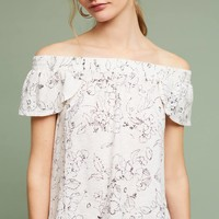 Michael Stars Floral Off-The-Shoulder Tee