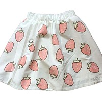 Harajuku lolita strawberry printing kawaii girls summer skirts school girls cute uniform