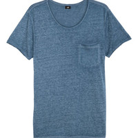 T-shirt with Raw Edges - from H&M