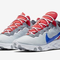 HCXX 19Aug 119 Nike React Element 55 SE Taped Seams Style Code CD7340-001 Sports Running Shoes