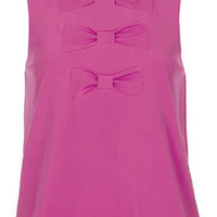 Triple Bow Shell Top - Making Us Blush  - New In