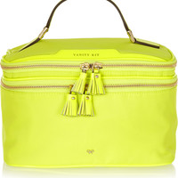 Anya Hindmarch - Vanity Kit neon patent leather-trimmed cosmetics case