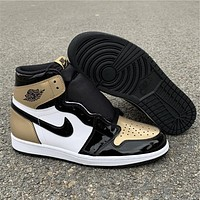 Air Jordan 1 Gold Toe 861428-007
