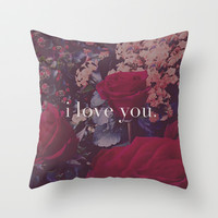 i love you. Throw Pillow by Leah Flores