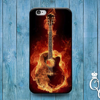 iPhone 4 4s 5 5s 5c 6 6s plus iPod Touch 4th 5th 6th Generation Cool Guitar on Fire Custom Music Band Rock n Roll Phone Cover Fun Cute Case