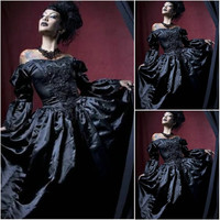 Victorian Corset Gothic/Civil War Southern Belle Ball Gown Dress Halloween dresses US 4-16 R-732 Alternative Measures - Brides & Bridesmaids - Wedding, Bridal, Prom, Formal Gown