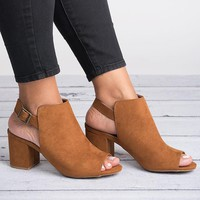 Block Heel Chestnut Sandals