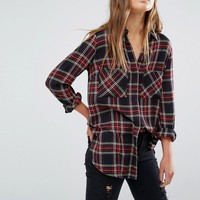 New Look Tartan Check Shirt