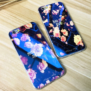 Soft TPU Glitter Case For iPhone 7 6 6s 6 Plus 5 5s Cute Blue Light Silicon Back Cover Ultra Thin Blue Ray Case For iPhone 6 6s