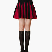 Hip Pleated Mini Skirt