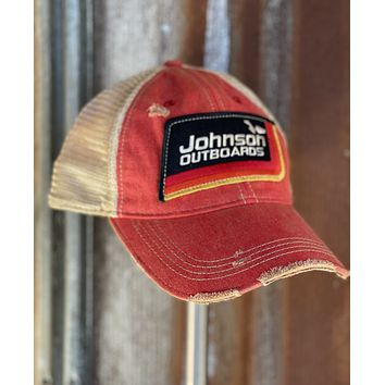 Lucky Fishing Hat- Distressed Red Snapback