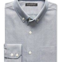 Banana Republic Mens Tailored Slim Fit Non Iron Textured Shirt