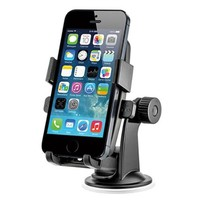 GoldMice 360 Degrees Rotation, Windshield Dashboard Car Mount, Phone Cradle, Car Phone Holder for Iphone3/4/4S/5/5S/6, Samsung, Sony, HTC, GPS etc. (Black)