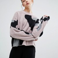 Weekday Leopard Print Knit Sweater at asos.com