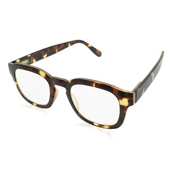 Sy Matte Tortoise Blue Light Blocking Reading Glasses