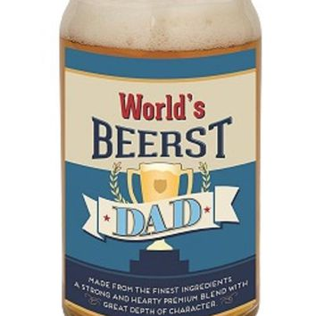 World's Beerst Dad Beer Can Glass