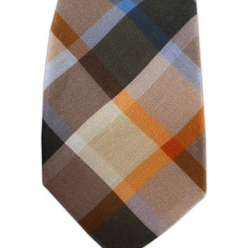 Woodstock Plaid - Browns (Linen Skinny) from TheTieBar.com - Wear Your Good Tie Everyday