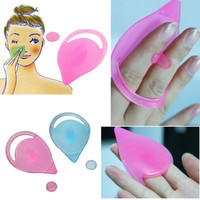 Facial Care Cleansing Silicone Gel Soft Pad Face Blackhead Remover Brush LS