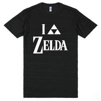 I Triforce Zelda-Unisex Athletic Black T-Shirt
