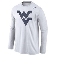 West Virginia Mountaineers Nike Logo Cotton Long Sleeve T-Shirt - White