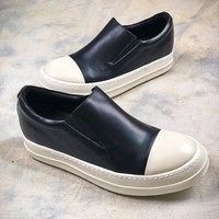 Rick Owens Drkshdw Scarpe Slip On Black White Sneaker  - Best Online Sale