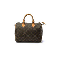LV Authentic Women's Vintage Louis Vuitton Speedy 30 Brown Monogram Travel Bag