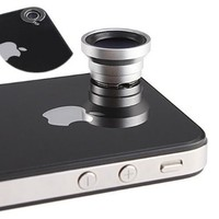 Magnetic 0.67X Wide Angle / Macro Lens Designed for Apple iPhone 4 iPhone 4S iPod Nano 5 iPad:Amazon:Cell Phones & Accessories
