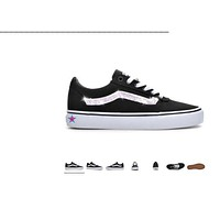 Custom Crystal Bling Rhinestone Black Vans