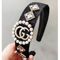 GUCCI & LV Louis Vuitton New fashion more pearl headband Accessories women
