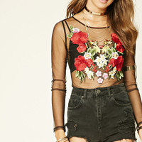 Floral Embroidered Bodysuit