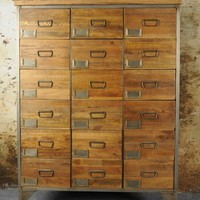 Industrial Apothecary Chest at Rose and Grey, Industrial Furniture