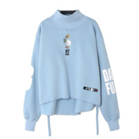 Seiko embroidery chick - letters pattern Slim sweater Blue