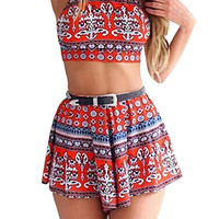 Criss Cross Back Top & Shorts Co-ords