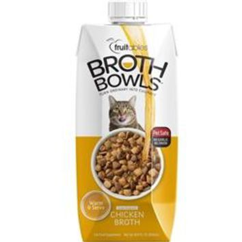 Fruitables Chicken Broth Bowls for Cats Food Topper