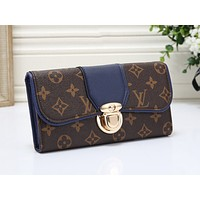 LV Fashion Sales Multicolor Printed Handbag Single Shoulder Bag Blue