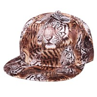 New Leopard Novelty Baseball Cap Fashion Snap back Hats For Men And Women Unisex Bone 2 Colors