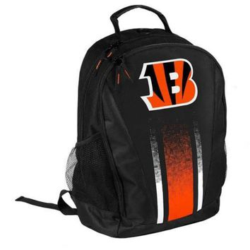 * Forever Collectibles Stripe Primetime Backpack Gym Bag - Cincinnat Bengals