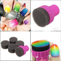 5 Nail Art Sponge Stamp Stamping Polish Template Transfer DIY Design Kit