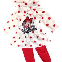 Minnie Mouse Infant Girls Knit Hooded Dress and Legging Set