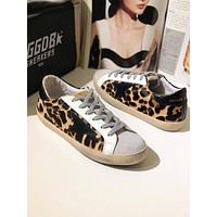GOLDEN GOOSE GGDB SSTAR Superstar Leopard Leather Sneakers Shoes