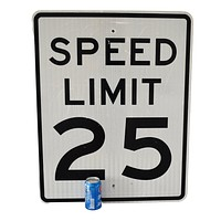 Authentic Big Road Sign 25 mph Speed Limit Sign  Reflective