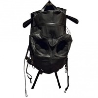 - Aitor Throup black high tech skull shaped backpack