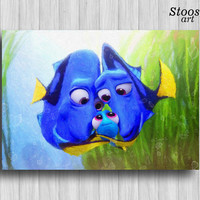 dory family print disney gift nautical favors finding dory party